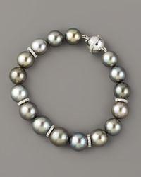 Assael | Gray Tahitian Pearl & Diamond Bracelet | Lyst