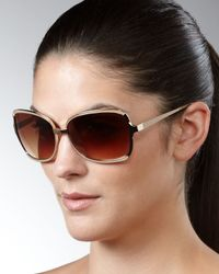 Barton Perreira | Brown Serene Sunglasses, Light Golden | Lyst