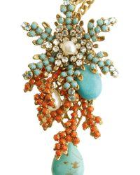 Bijoux Heart - Metallic 24karat Goldplated Swarovski Crystal Necklace - Lyst