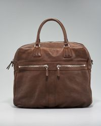 Brunello Cucinelli | Brown Bison Computer Bag for Men | Lyst