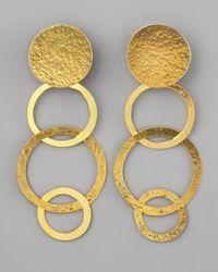 Herve Van Der Straeten - Metallic Disc & Open Circle Clip Earrings - Lyst
