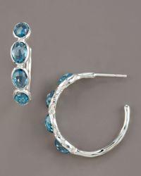 Ippolita - London Blue Topaz Hoop Earrings - Lyst