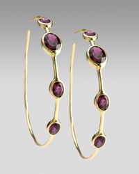Ippolita | Metallic Rock Candy Garnet Hoop Earrings | Lyst