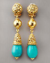 Jose & Maria Barrera | Blue Turquoise Drop Earrings | Lyst