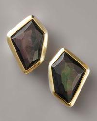 Kara Ross - Mother-of-pearl Earrings, Black - Lyst