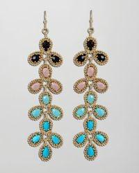 Kendra Scott | Metallic Nelsie Beaded Drop Earrings, Peacock | Lyst