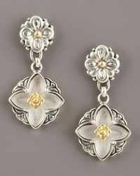 Konstantino | White Iris Rock Crystal Earrings | Lyst