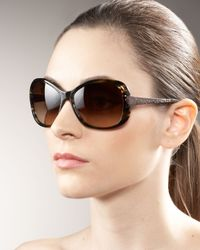 Oliver Peoples | Brown Matine Plastic Sunglasses | Lyst