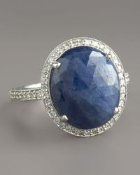 Penny Preville | Blue Sapphire Diamond Ring | Lyst