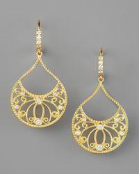 Penny Preville - Metallic Diamond Scrollwork Earrings - Lyst