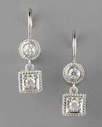 Penny Preville | Metallic Diamond Drop Earrings | Lyst