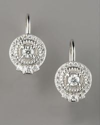 Penny Preville | Metallic Pave Diamond Drop Earrings | Lyst