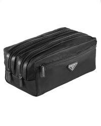 Prada | Black Nylon Double-zip Travel Kit for Men | Lyst