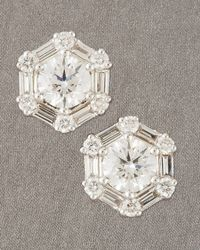 Roberto Coin | Metallic Octagon Earrings | Lyst