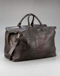 Santiago Gonzalez - Brown Crocodile Carryall Bag, Large for Men - Lyst