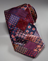 Stefano Ricci | Patchwork Tie, Red for Men | Lyst