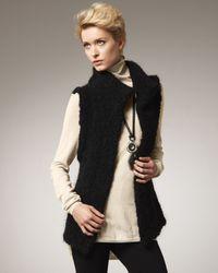 Adrienne Vittadini | Black Boucle Vest | Lyst