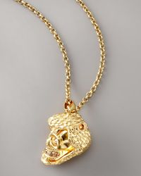 Alexander McQueen - Metallic Snake & Skull Pendant Necklace - Lyst