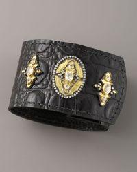 Armenta | Black Sapphire Leather Cuff | Lyst