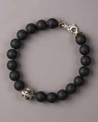 Armenta | Black Spiritual Bead Bracelet for Men | Lyst