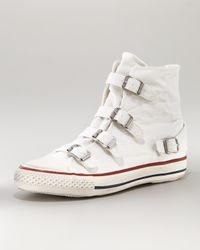 Ash | White Canvas Buckle Hi-top Sneaker | Lyst