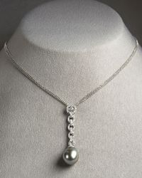 Assael | Metallic Tahitian Pearl Drop Necklace | Lyst