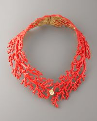 Aurelie Bidermann | Red Enamel Coral Choker Necklace | Lyst