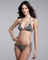 Balmain   Gray String Bikini   Lyst