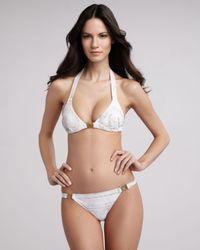 Balmain - White Printed Triangle Bikini - Lyst