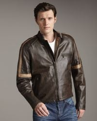 Belstaff Black Hero Leather Jacket for men