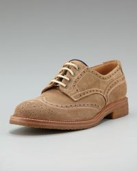 Brunello Cucinelli - Brown Crepe-sole Suede Wing-tip for Men - Lyst