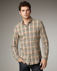 Burberry Brit | Natural New Classic Check Woven Shirt for Men | Lyst