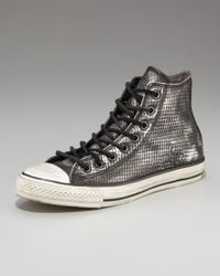 Converse | Black Snake-print Hi-top Sneaker for Men | Lyst