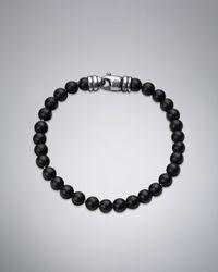 David Yurman | 6mm Black Onyx Spiritual Bead Bracelet for Men | Lyst