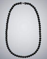 David Yurman - Black Onyx Spiritual Bead Necklace for Men - Lyst