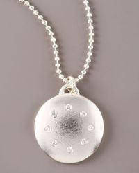 Dominique Cohen | Metallic Multi-diamond Disc Necklace, Large | Lyst