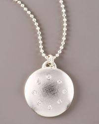 Dominique Cohen | Metallic Multi-diamond Disc Necklace, Large | Lyst