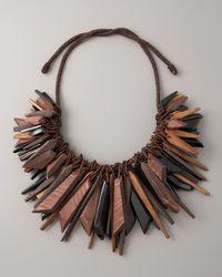 Donna Karan - Black Large Cluster Necklace - Lyst