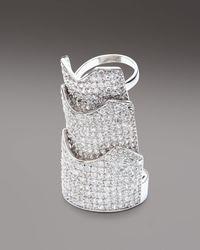 Eddie Borgo - Metallic Pave Crystal Hinge Ring - Lyst