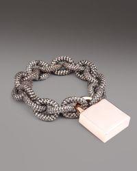 Eddie Borgo | Gray Pave Padlock Bracelet | Lyst
