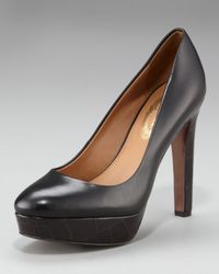Elie Tahari | Black Eleanor Crocodile-Embossed Pump | Lyst