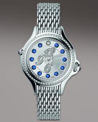 Fendi | Metallic Crazy Carats Sapphire & Diamond Watch, Blue | Lyst