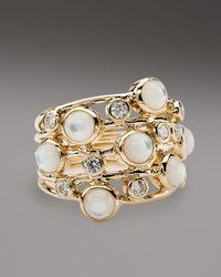 Ippolita - White Diamond & Mother-Of-Pearl Ring - Lyst