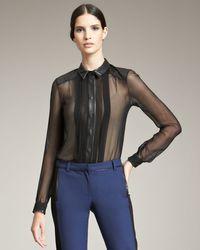 Jason Wu | Black Sheer Silk Blouse | Lyst