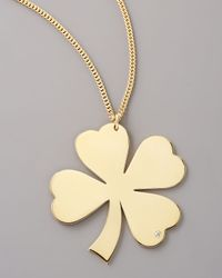Jennifer Zeuner | Metallic Diamond Clover Necklace | Lyst