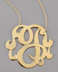 Jennifer Zeuner - Metallic Swirly Initial Necklace - Lyst