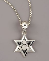 John Hardy | Metallic Kali Black Sapphire Star Of David Pendant Necklace for Men | Lyst