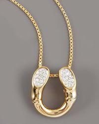 John Hardy - Metallic Diamond Horseshoe Pendant Necklace - Lyst