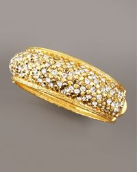 Jose & Maria Barrera - Metallic Pave-crystal Bracelet, Golden - Lyst