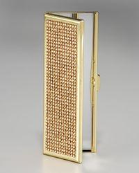 Judith Leiber   Metallic Slim Pocket Mirror   Lyst
